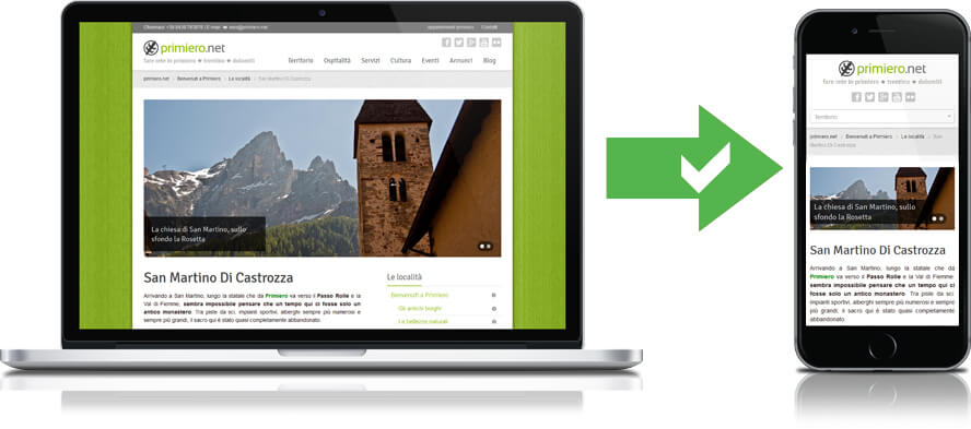 Primiero.net sito responsive